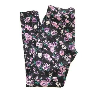 Maurices Super Soft Floral Full Length Leggings